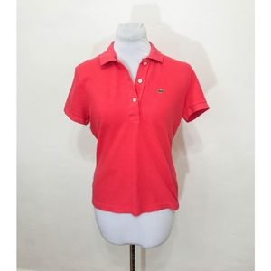Lacoste Berry Pink Polo - Size 42